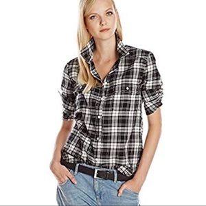 "Paige ""Trudy"" Plaid Flannel Button Down Shirt"